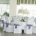 13 aranjament cu pene de strut pentru nunta Targoviste