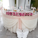 decor amenajare nunta roz